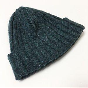 Irelandseye Wool Cashmere Blend Ribbed Green Hat